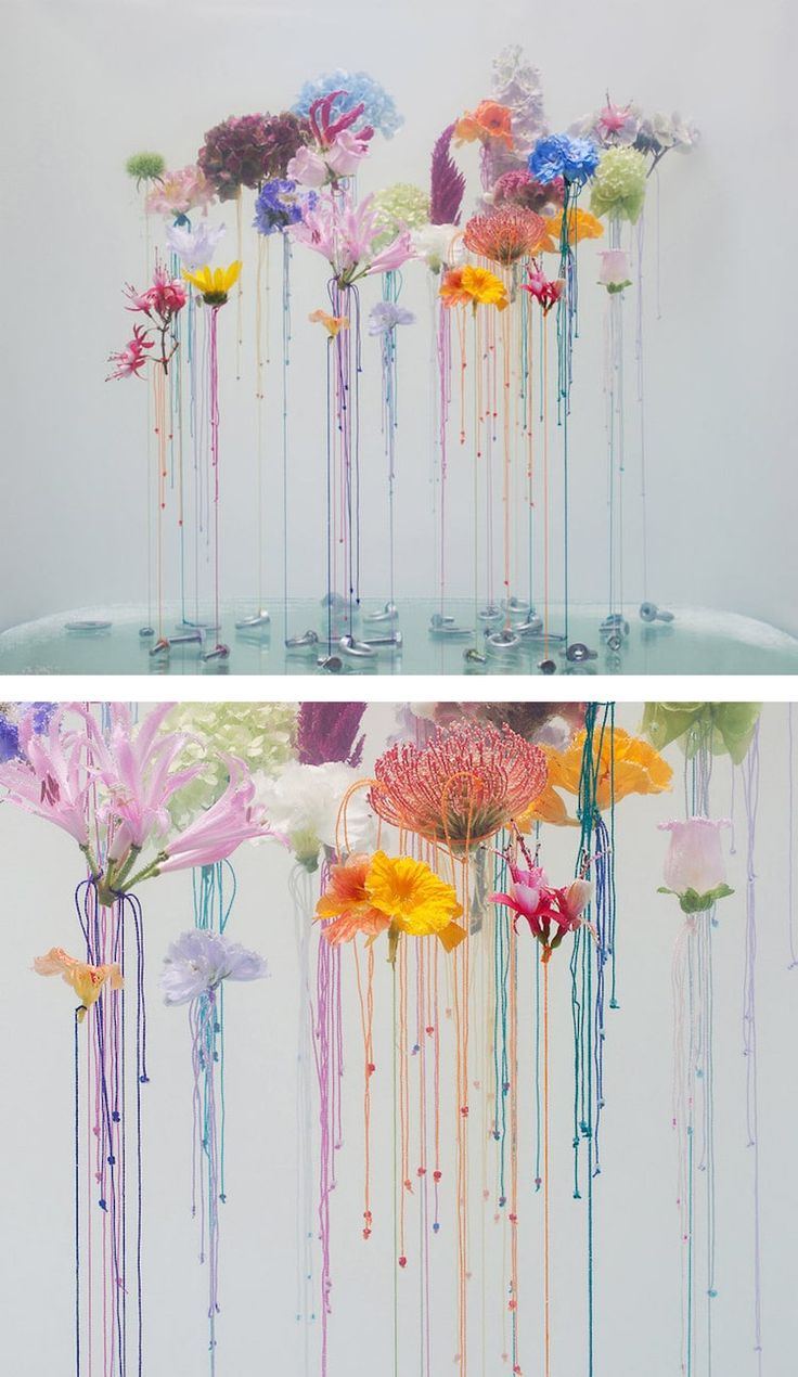 Artist Anne ten Donkelaar uses shades of soft whites, pinks, browns, and greens in her latest series of flower art.