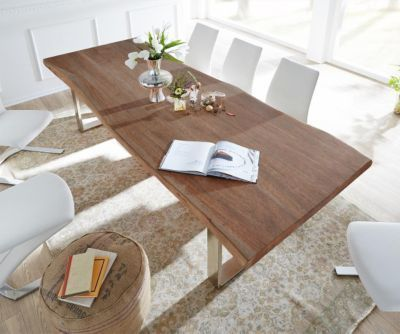 11 best Natural acacia wood tables images on Pinterest Bow, Cook - arte m esszimmerbank