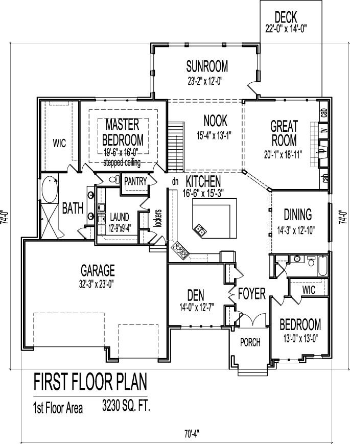 3 br duplex w garage plans multi family house plans Duplex floor plans with garage
