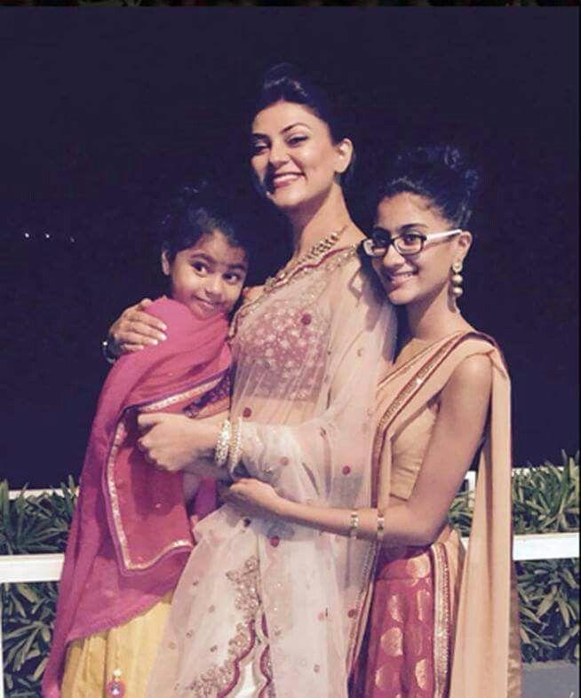 Sushmita Sen and her daughters