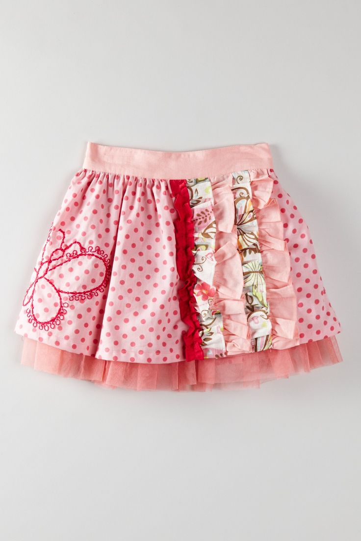 Sweet little pink skirt.