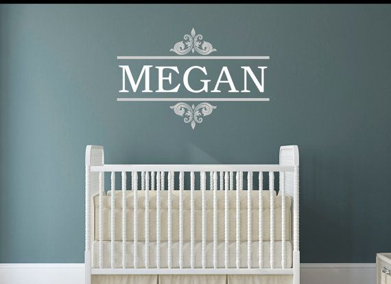Classical Design & Customized Name Kids Bedroom Nursery Wall