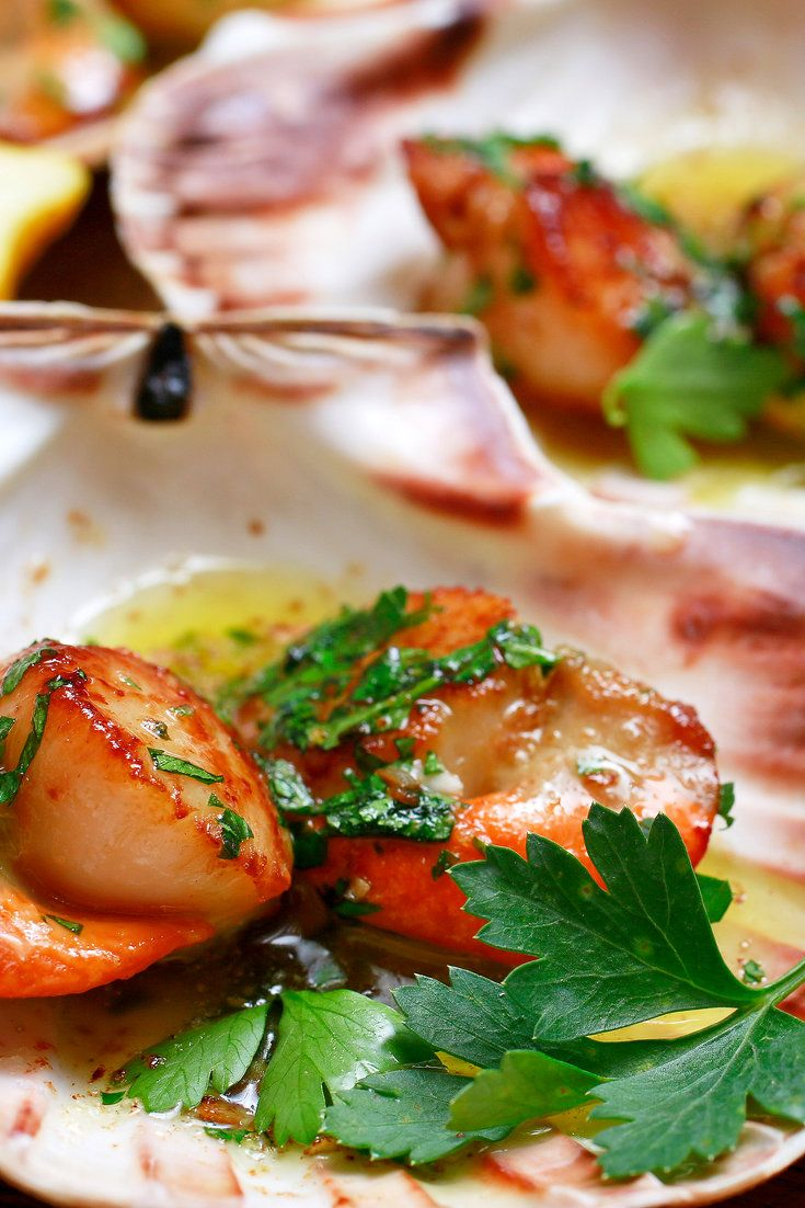 Sea scallops are available all year, but are abundant and quite welcome in winter Like all shellfish, they are best when they are ultra-fresh If you can get them like that, just let the freshness shine