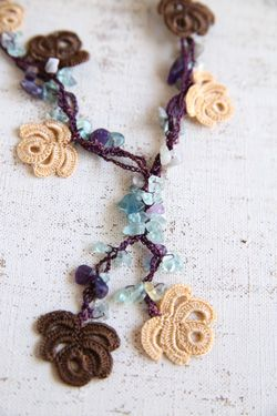 oya crochet necklace More