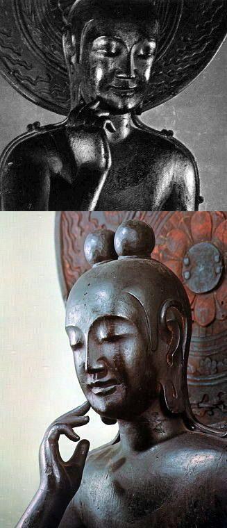 奈良 法興山中宮寺 半跏思惟像