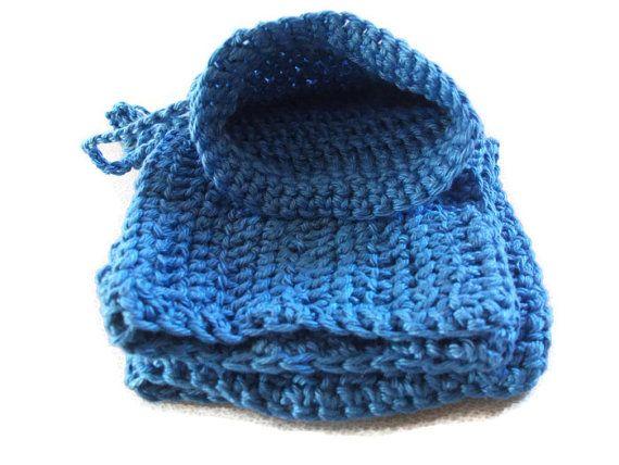 Cotton Wash Set in Blue. Bath & Shower Gift by UniquelyYourDesigns, £7.00