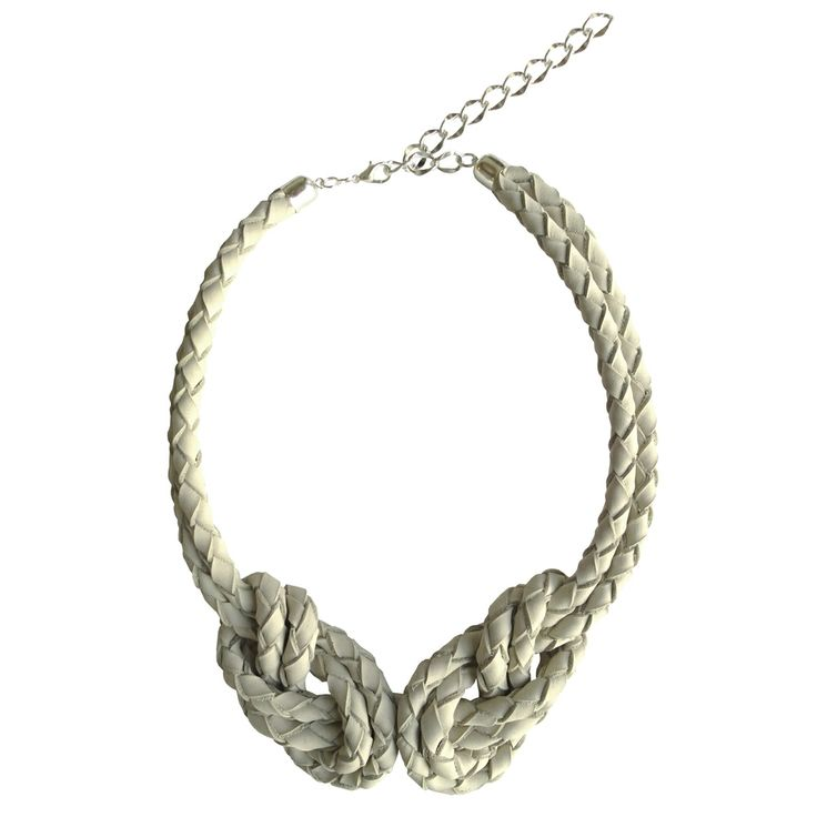 Dotti Double eight necklace, cement