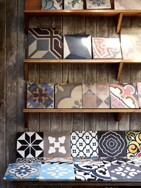 Gorgeous vintage and vintage-inspired tiles at Jatana Interiors via The Design Files Daily