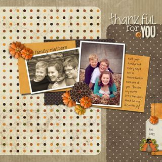 Thankful for You Digital Scrapbook Layout Page Idea from Creative Memories