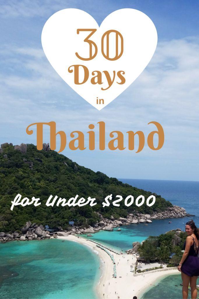 30 Days in Thailand for Under $2000