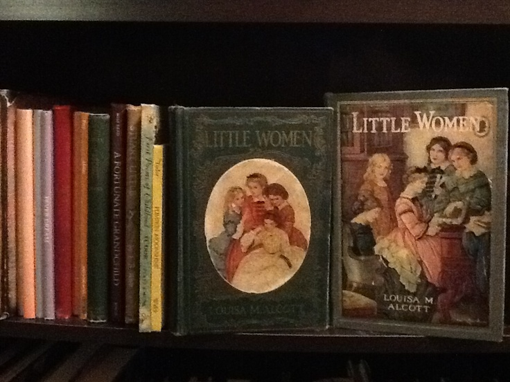"""Treasured """"Old Editions"""" of Louisa M. Alcott- Little Woman/ books in a special bookcase of mine....."""