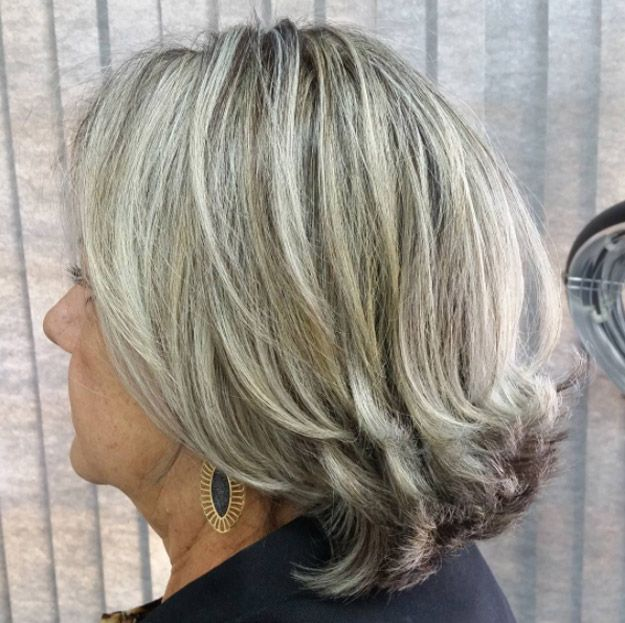 Best Hairstyles For Your 50s - Shoulder-Length Flip - Best Haircuts For Women In...