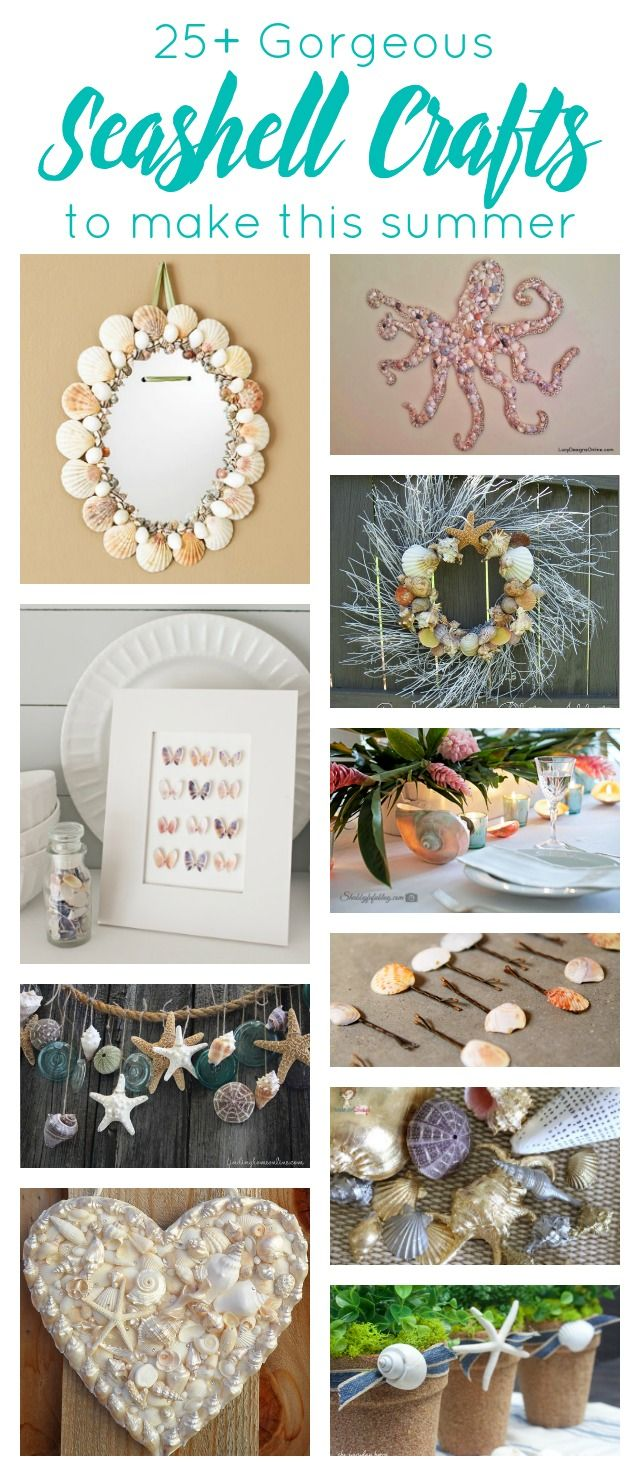 This is amazing collection of seashell crafts. Learn how to make everything from seashell artwork to lamps to jewelry to home decor items. It's time to hit the beach and start collecting shells!
