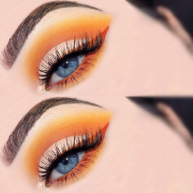 "30.4k Likes, 63 Comments - Lime Crime (@limecrimemakeup) on Instagram: "" Eye look using PUMPKIN as liner via @chloemakeupx."""