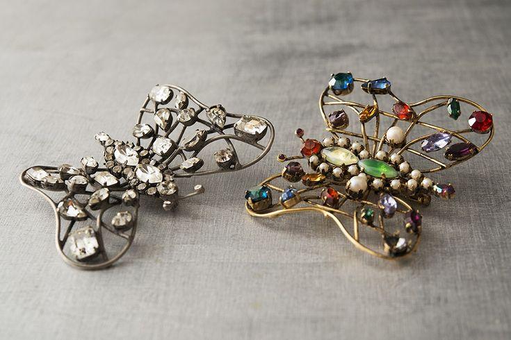 Ornella Bijoux brooches