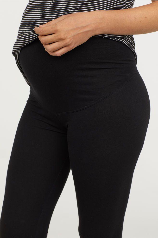 b437fca7ae962 H&M MAMA Leggings - Black   Pregnancy Fashion   Black leggings ...