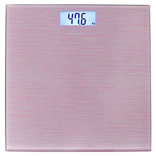 • EXZACT Báscula Corporal Electrónica, Ultra Delgada, fácil almacenamiento, Dimensión del producto: 30.2 x 30.2 x 2.2 CM. • Báscula digital de alta precisión, Gradación: 0.1 kg (0.2 lb); Capacidad max: 180 kg (400 lb/ 28 st); 3 modelos...
