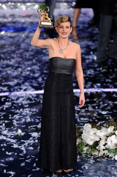 Emma Marrone winner of the 62th Sanremo Song Festival shows her... Foto di attualità 139291693