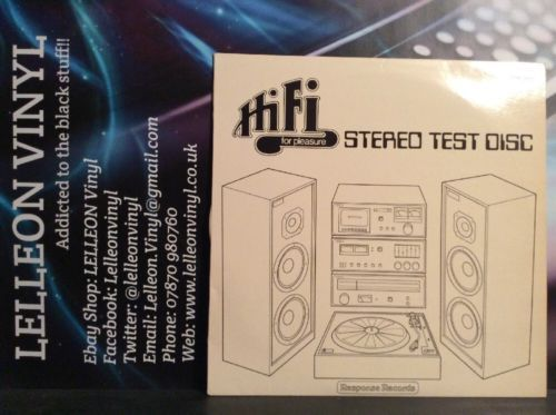 Hi Fi Stereo Test Disc LP Vinyl TEST123 Response Records Music:Records:Albums/ LPs:Other Albums/ LPs