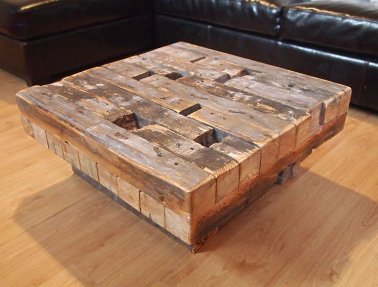 Coffee Table Made From Reclaimed Hand Hewn Lumber Diy Projects Pinterest Reclaimed Wood