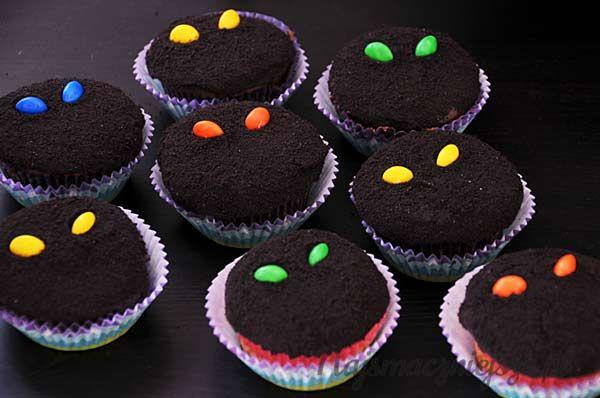 Straszne babeczki, Halloween, muffiny, Scary cupcakes, muffins