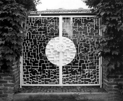 Korean typographic door design by Ahn Sang-Soo