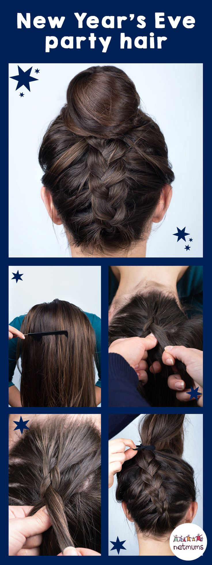 New Year's Eve hair inspiration. If you're looking for hair ideas for New Year's Eve, why not try this easy tutorial.