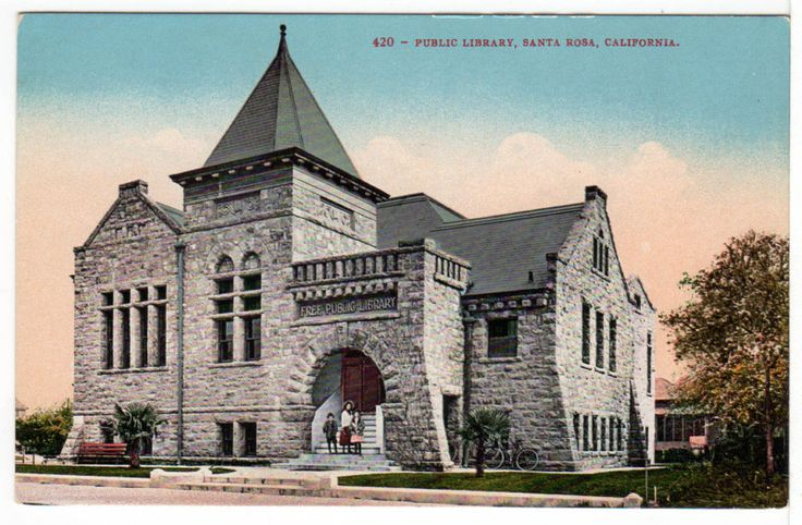 The Lost Art of Library Postcards: California Public, Santa Rosa California, Rosasonoma Countywin, Historical Santa, Santa Rosa Sonoma, Libraries Postcards, Rosa Sonoma County Win, Public Libraries, Santa Rosasonoma