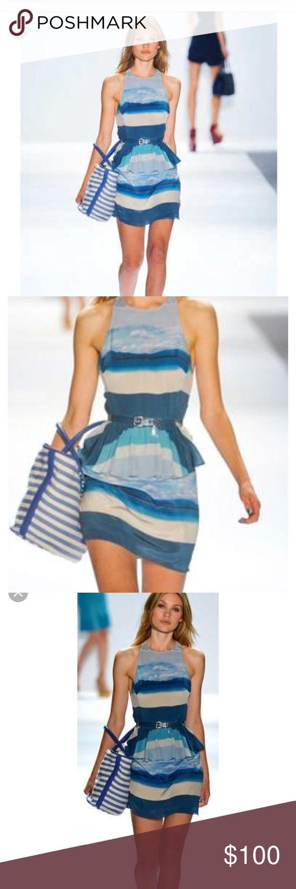 Charlotte Ronson Silk Dress Beautiful silk peplum mini dress . Excellent condition. Only worn twice! Charlotte Ronson Dresses Mini