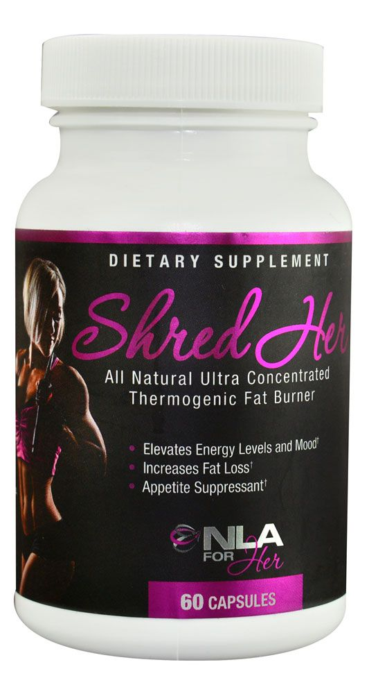 NLA For Her Shred Her Thermogenic Fat Burner -- 60 Capsules
