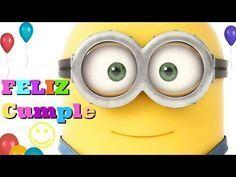 Canción de FELIZ CUMPLEAÑOS MINIONS videos divertidos MINIONS HD animado Niños infantil - YouTube #videosdivertidos