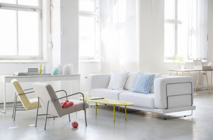 Living Room Decoration Furniture Interior Decoration Apartment Style Minimalist White Sofas - pictures, photos, images