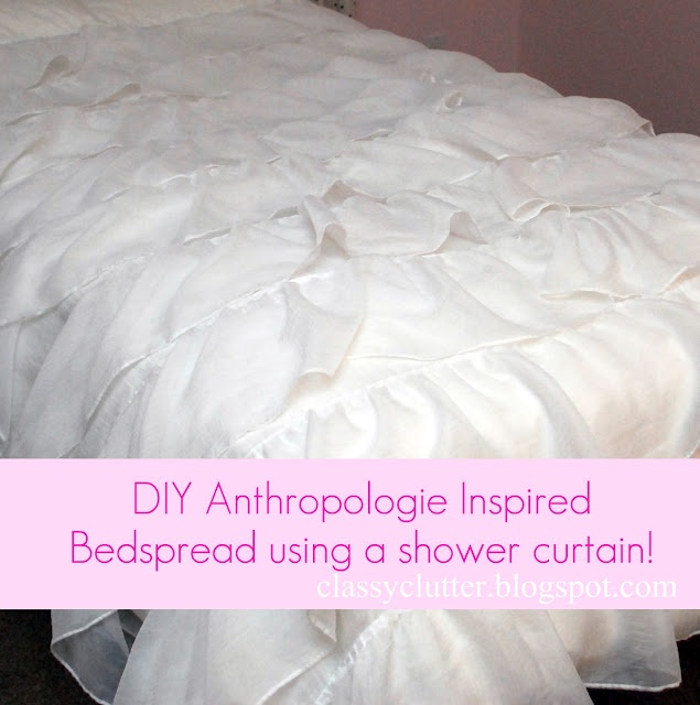 ruffled bed spread