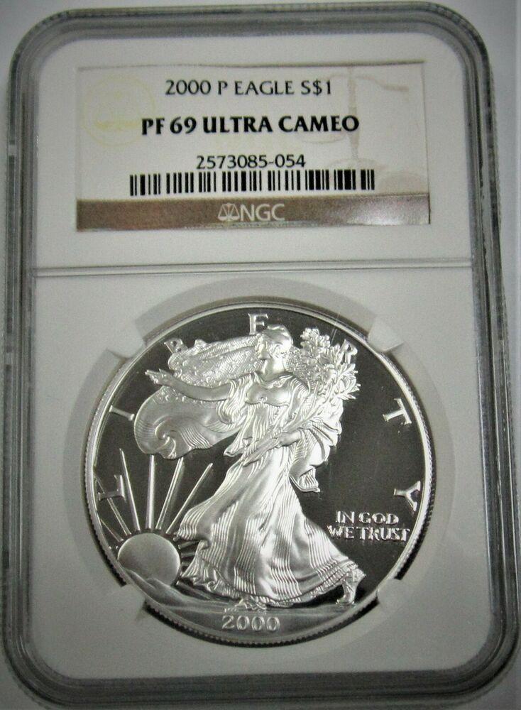 2000 Painted Walking Liberty American Eagle One Dollar Coin 1 Oz Silver Bullion Silver Bullion Bullion Silver Bars