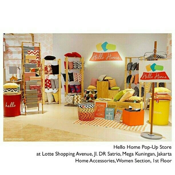 Welcoming Hello Home temp Store in Lotte Shopping avenue.
