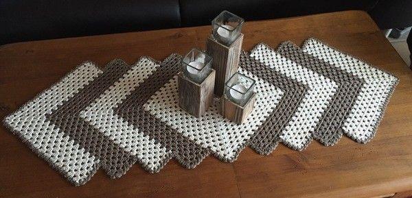 ber ideen zu tischl ufer h keln auf pinterest fileth kelei h kelgardinen und square. Black Bedroom Furniture Sets. Home Design Ideas