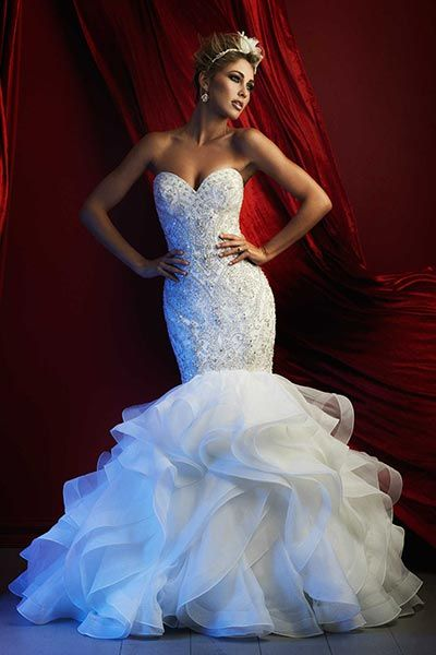 Wedding gown by Allure Couture.Check out more gorgeous dresses in our Allure Couture gown gallery ►
