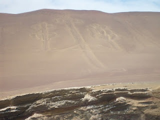 Using the Nazca Lines to signal the Aliens near Paracas, Peru.