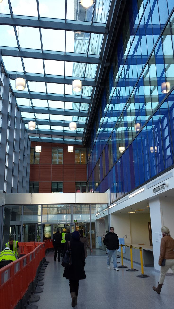 View inside of front main entrance in the Royal London Hospital