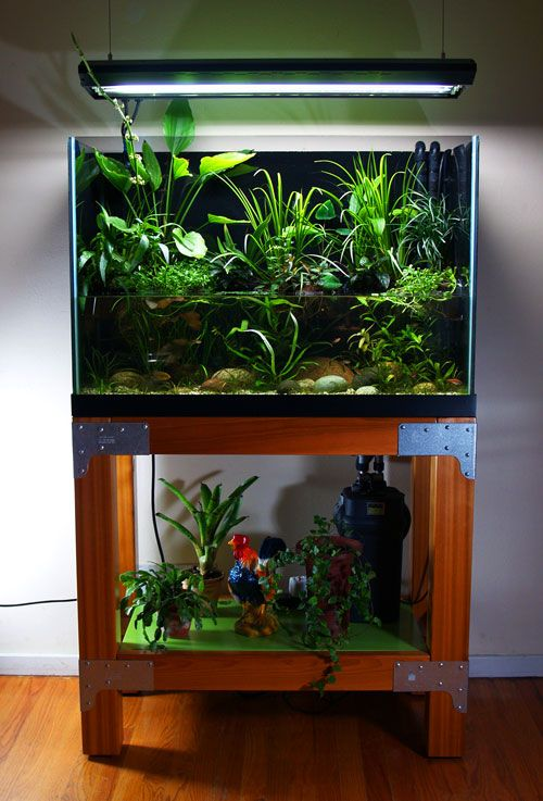 "stand build in ""raw industrial"" style. - DIY Aquarium Projects - Aquatic Plant Central"