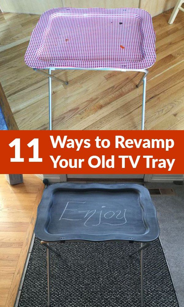 TV tray lying around - Lots of tv cart ideas see #9 industrial tray from reclaimed wood n pipes - awesome