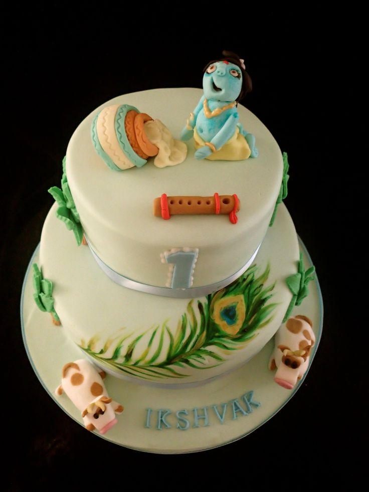 Krishna birthday, Krishna and Birthday cakes on Pinterest