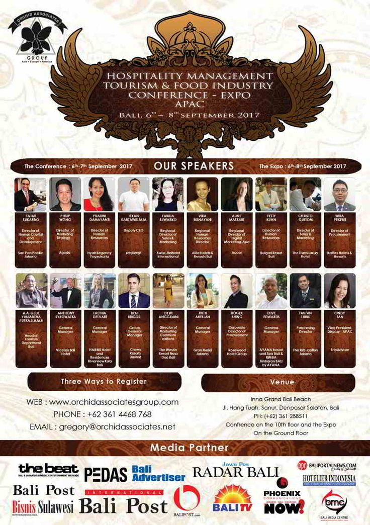 Hospitality Management Tourism & Food Industry Conference 2017 - Hotelier Indonesia | Events