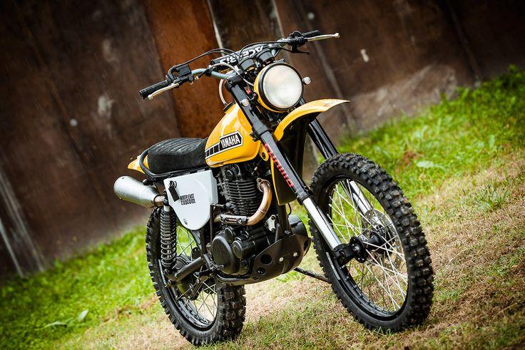 Not So Mellow Yellow: North East Customs' stunning Yamaha XT500 resto-mod.