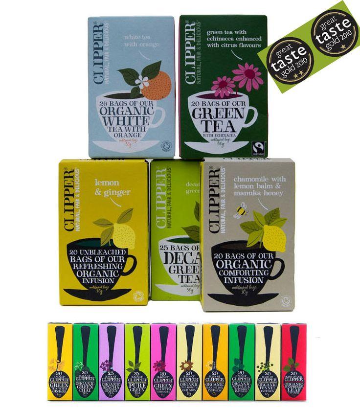 Clipper Tea. Kjøpes på helsekost. Foretrekker koffeinfri te uten anis eller fenikkel.