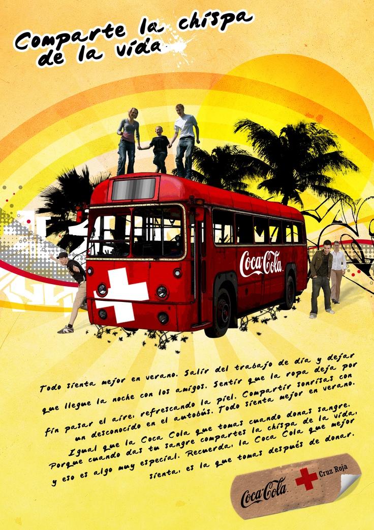 Creatividad para Coca Cola y Cruz Roja. Comparte la chispa de la vida. Más en http://www.lacaseta.com/ #Diseno #Design #ideas #Creatividad