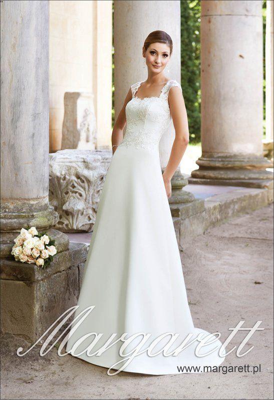 Suknia ślubna firmy Margarett model Fresca cena 2100 zl szyta na miarę lub w standardowym rozmiarze dostępna http://www.juliacollection.eu/