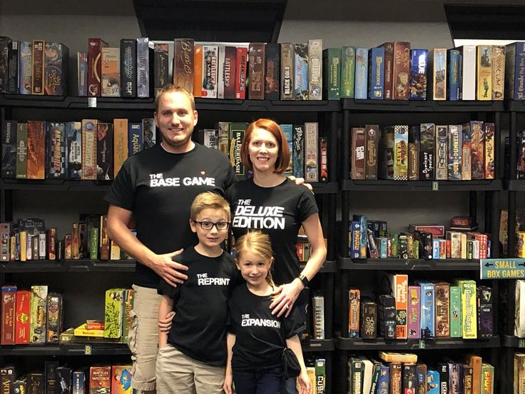 The family that games together stays together! Gerry (@hagaf22 on Twitter) and his family wearing our matching Board Game Family T-shirt Series  Get yours at: https://www.geekygoodies.com/boardgamefamilytshirts