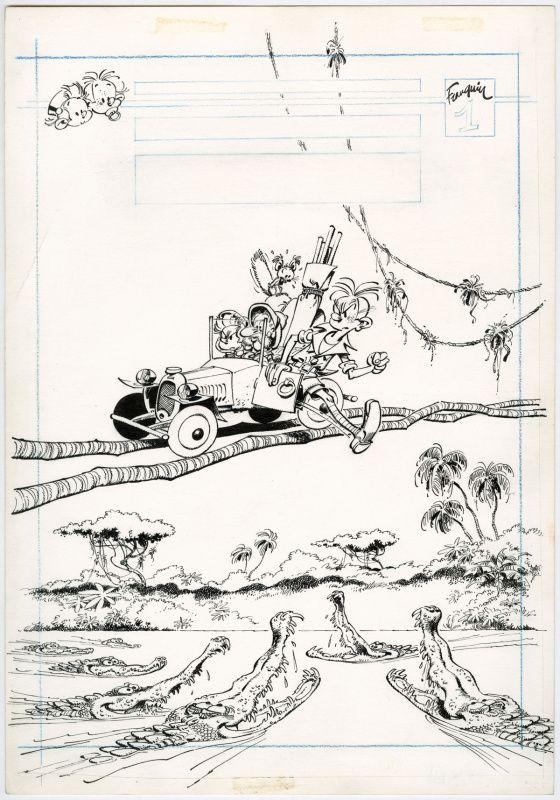 Couverture Péchés de Jeunesse par André Franquin - Œuvre originale