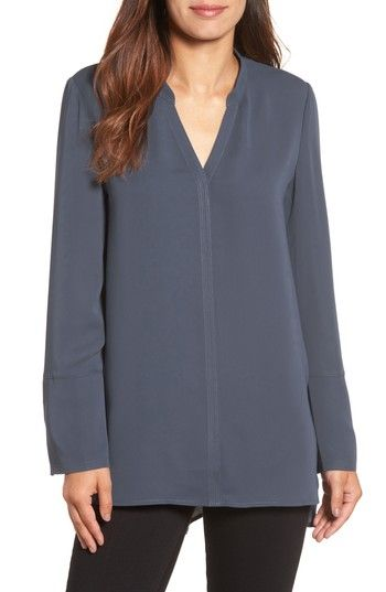 Free shipping and returns on NIC+ZOE Endless Empire Matte Satin Blouse at Nordstrom.com. Matte-satin crepe gives smooth, fluid drape to a timelessly elegant V-neck blouse. A generous back pleat creates easy volume and tonal track stitching draws a pretty line down the center front.